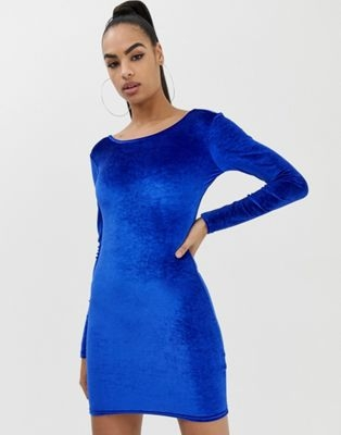 383205a00565 COLLUSION velvet bodycon dress with low back